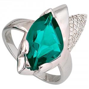 Ring mit grünem Zirkonia