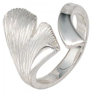 Ginkgo Ring aus Silber